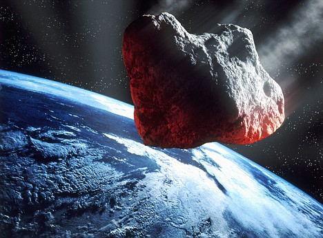 01 Sep 2000 --- Asteroid headed for Earth --- Image by © Denis Scott/CORBIS